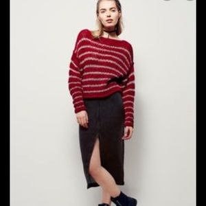 Free People striped slouch sweater EUC
